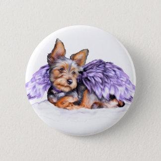 Yorkshire Terrier Yorkie Angel Pinback Button