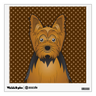 Yorkshire Terrier (Yorkie) Cartoon Wall Sticker