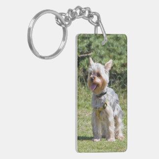 Yorkshire terrier, yorkie dog cute beautiful photo keychain