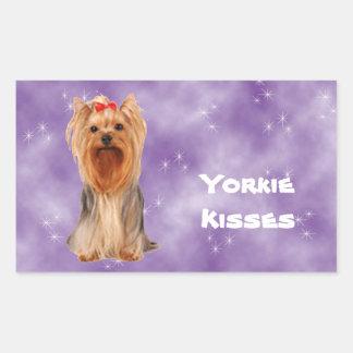 Yorkshire Terrier - Yorkie Kisses Rectangular Sticker