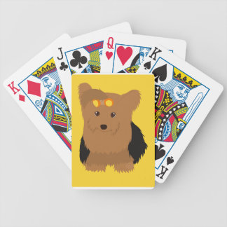 Yorkshire Terrier Yorkie Puppy Black and Tan Bicycle Playing Cards
