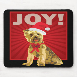 Yorkshire Terrier - Yorkie Santa Clause Mouse Pad