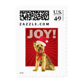 Yorkshire Terrier - Yorkie Santa Clause Postage