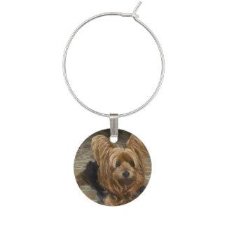 Yorkshire Terrier Wine Glass Charm