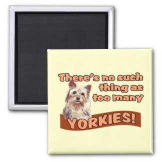 YORKSHIRE TERRIERS 2 INCH SQUARE MAGNET