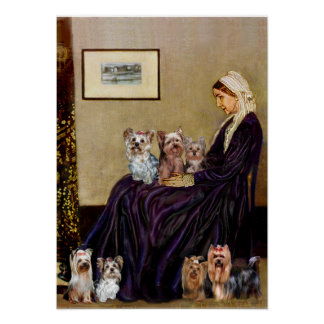Yorkshire Terriers (7) - Whistlers Mother Print
