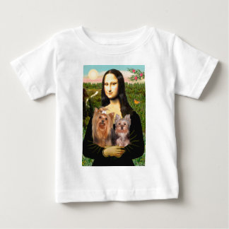 Yorkshire Terriers (7and19) - Mona Lisa Baby T-Shirt