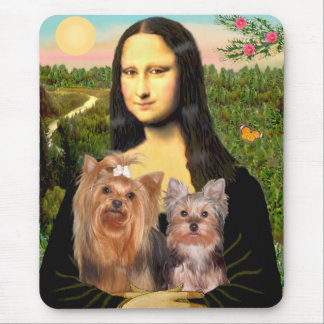 Yorkshire Terriers (7and19) - Mona Lisa Mouse Pad