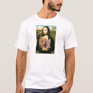 Yorkshire Terriers (7and19) - Mona Lisa T-Shirt