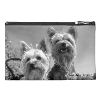 Yorkshire Terriers, Black and White, Travel Accessories Bags