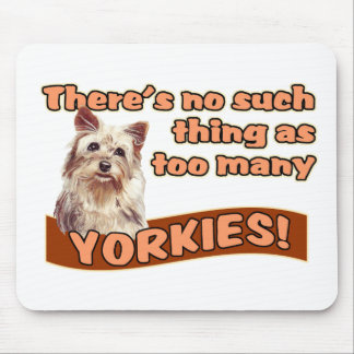 YORKSHIRE TERRIERS MOUSE PAD