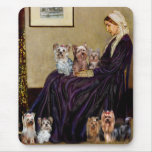 Yorkshire Terriers (Seven) - Whistlers Mother Mouse Pad
