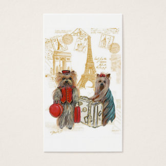 Yorkshire Terriers Traveling Business Card