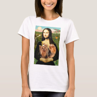 Yorkshire Terriers (two)  -  Mona Lisa T-Shirt