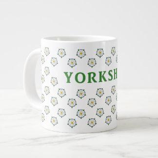 Yorkshire White Roses Jumbo Mug