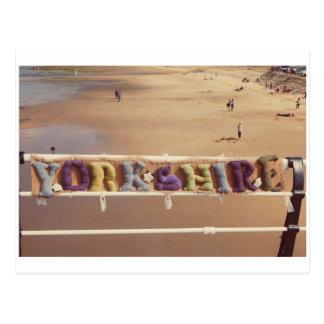 Yorkshire Yarn Bombing Postcard