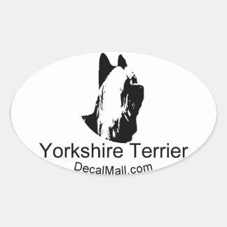Yorkshirt Terrier Auto Window Decal Oval Sticker