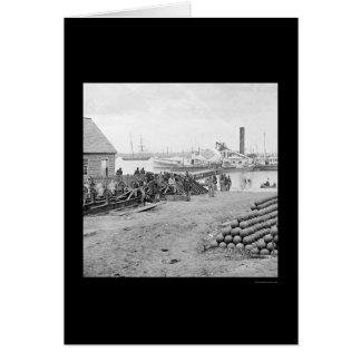 Yorktown Embarkation for White House Landing 1864 Card