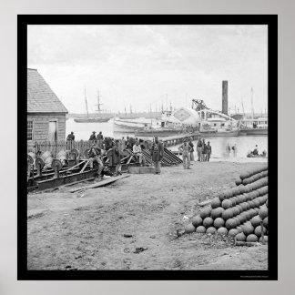 Yorktown Embarkation for White House Landing 1864 Poster