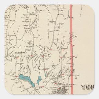 Yorktown NY Calcomanías Cuadradas