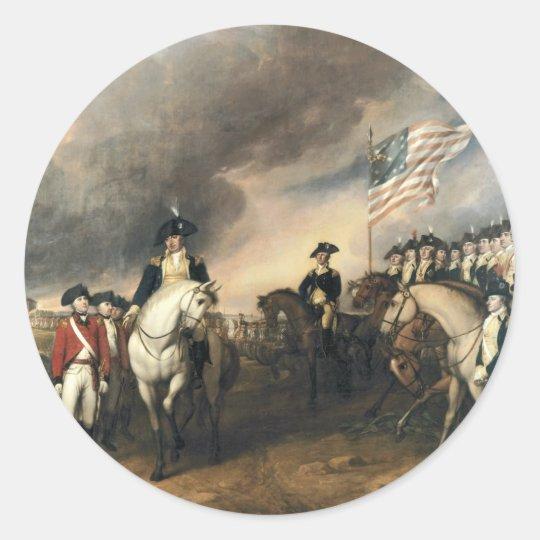 Yorktown Surrender by John Trumbull Classic Round Sticker