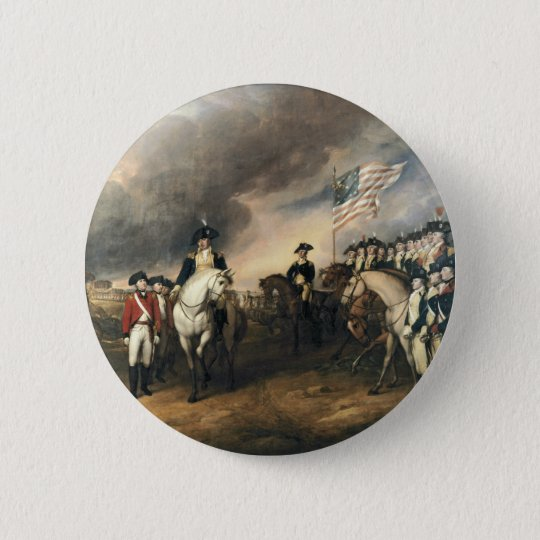 Yorktown Surrender by John Trumbull Pinback Button