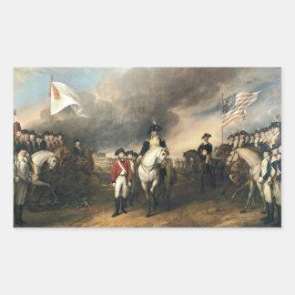 Yorktown Surrender by John Trumbull Rectangular Sticker