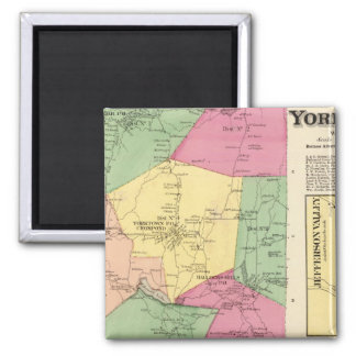 Yorktown, Town 2 Inch Square Magnet