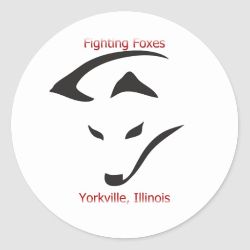 Yorkville Fighting Foxes Classic Round Sticker