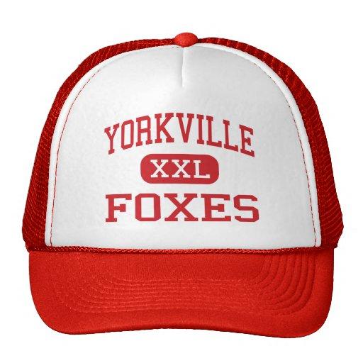 Yorkville - Foxes - Middle - Yorkville Illinois Mesh Hats
