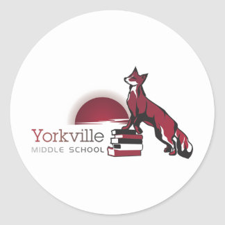 Yorkville middle school classic round sticker