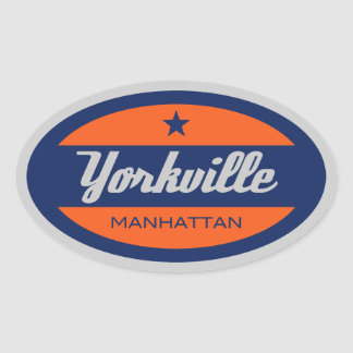 Yorkville Oval Sticker