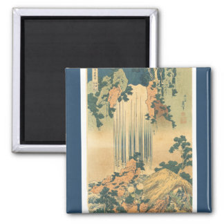 Yōrō Waterfall in Mino Province 2 Inch Square Magnet