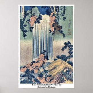Yoro waterfall Mino Province by Katsushika,Hokusai Poster