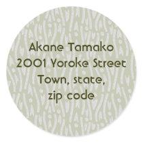 yoroke stripes classic round sticker
