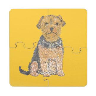 Yorshire Terrier Posavasos De Puzzle