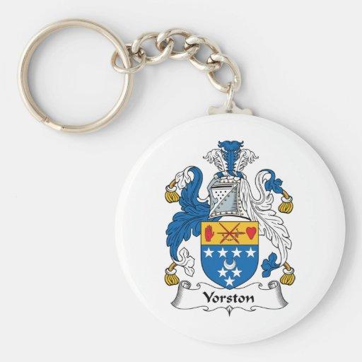 Yorston Family Crest Basic Round Button Keychain