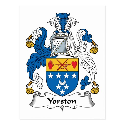 Yorston Family Crest Post Cards