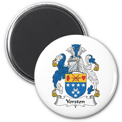 Yorston Family Crest Refrigerator Magnets
