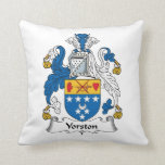 Yorston Family Crest Throw Pillow