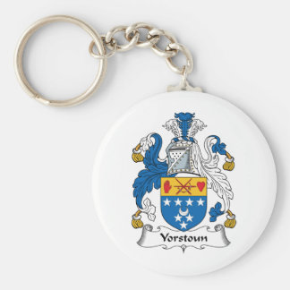 Yorstoun Family Crest Basic Round Button Keychain