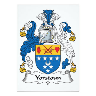 Yorstoun Family Crest Card