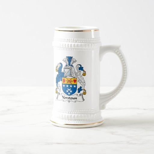 Yorstoun Family Crest Coffee Mugs