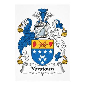 Yorstoun Family Crest Invitations