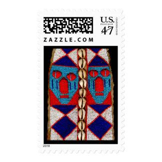 Yoruba beaded artifact postage