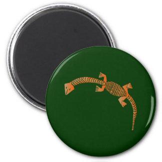 Yoruba lizard lizard magnets