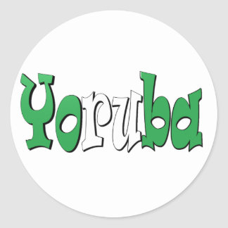Yoruba (Nigerian Flag) Classic Round Sticker