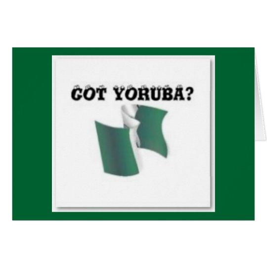 Yoruba Tribe, Nigeria, T-shirt And Etc Card