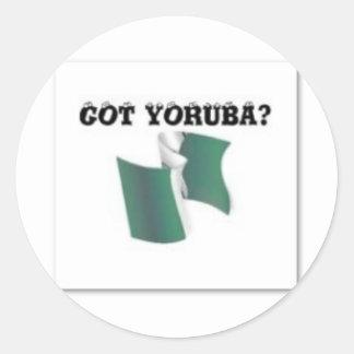 Yoruba Tribe, Nigeria, T-shirt And Etc Classic Round Sticker