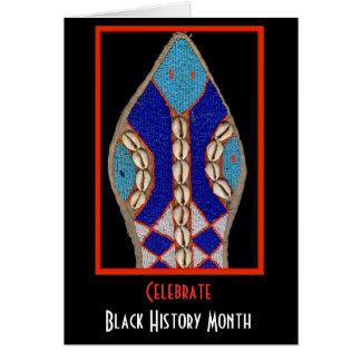 Yoruba Wall Effigy Black History Month Greeting Cards